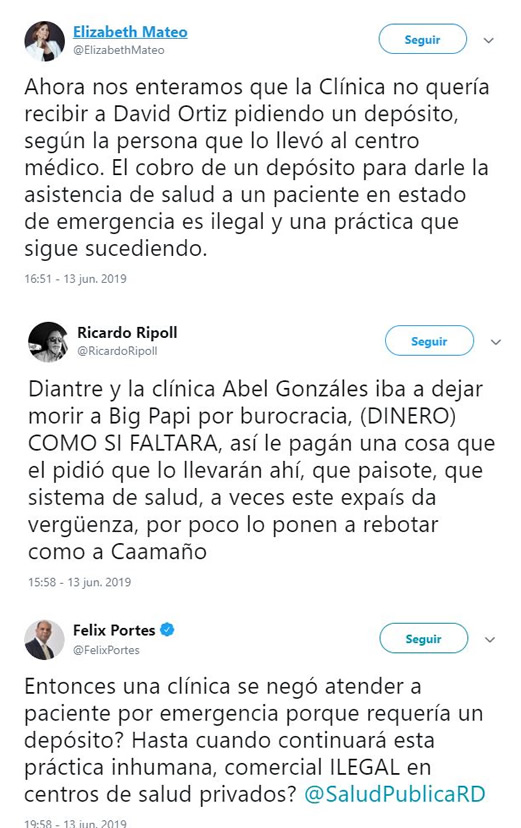 reaccion twitter clinica abel gonzales