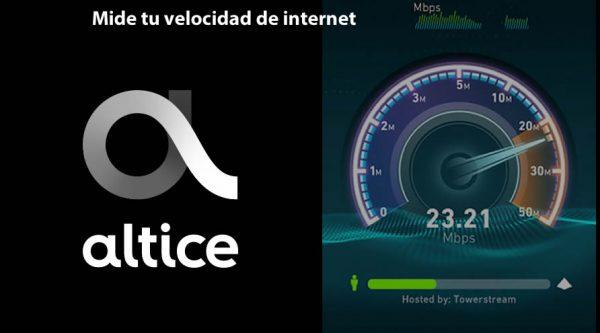 Medir velocidad de Internet Altice Speedtest