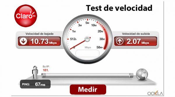 Medir velocidad de internet Claro Speedtest