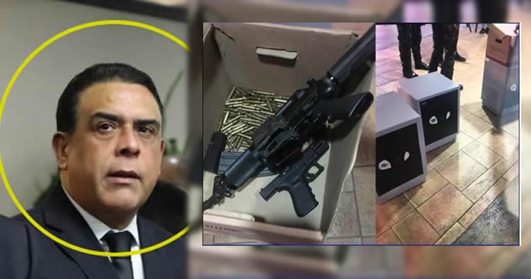 Incautan cajas fuertes y armas de fuego durante allanamiento a hermano Danilo Medina