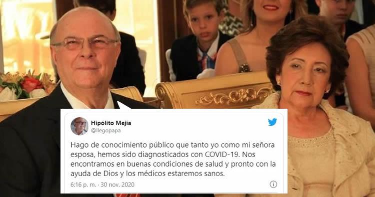 Hipólito Mejía y su esposa dan positivo a Covid-19