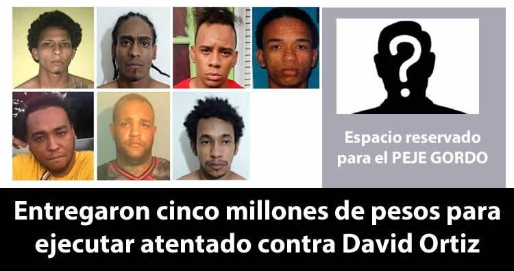 Afirman entregaron cinco millones de pesos para ejecutar atentado contra David Ortiz