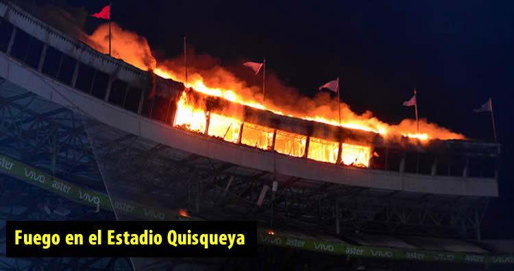 Fuego en el Estadio Quisqueya; detalles, fotos y video