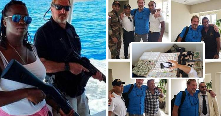 A Mcafee le quitaron armas y dinero, no le presentaron cargos y lo deportaron