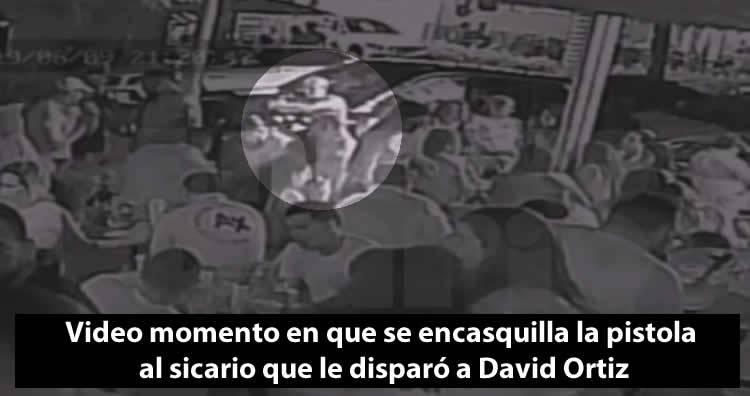 Video: momento en que se le encasquilla la pistola al sicario que le disparó a David Ortiz