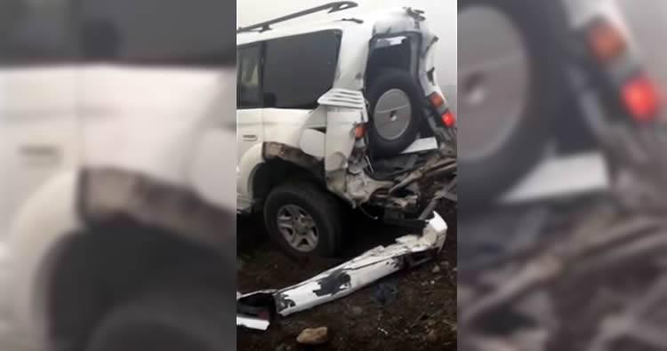 Gran humareda en autopista Duarte provoca choque múltiple