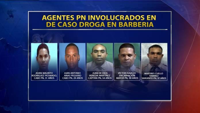 """Agentes DNCD caso """"poniendo droga en barbería' son cinco miembros de la Policía"""