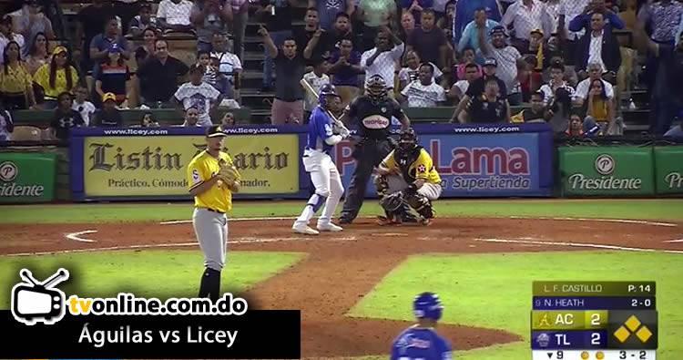 Video: Tigres del Licey dejan el terreno a las Águilas Cibaeñas 13/11/2019