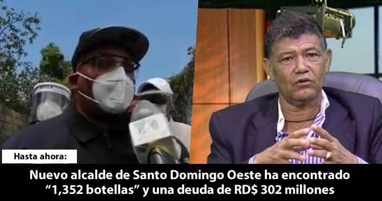 Nuevo alcalde de Santo Domingo Oeste encontró '1,352 botellas' y una gran deuda en el cabildo