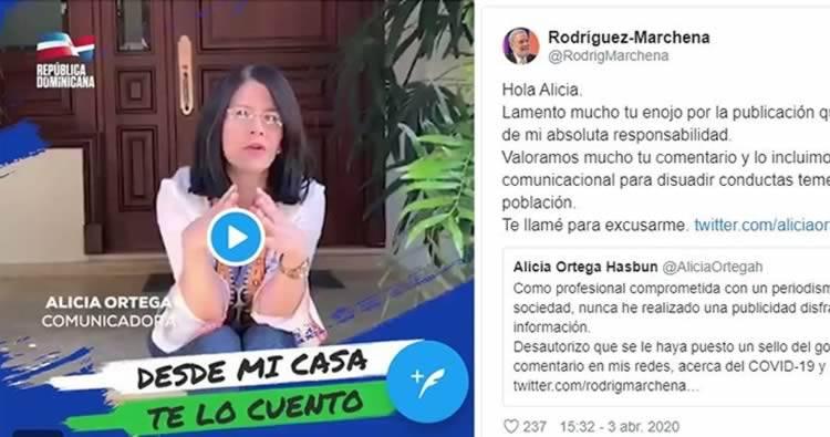Alicia Ortega desautoriza al Gobierno uso de su imagen en campaña