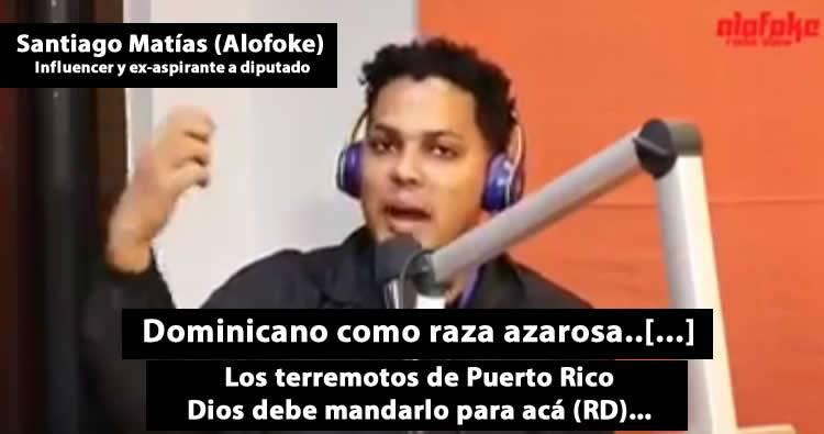 Video – Alofoke: 'Los terremotos de Puerto Rico Dios debe mandarlo para acá (RD)'