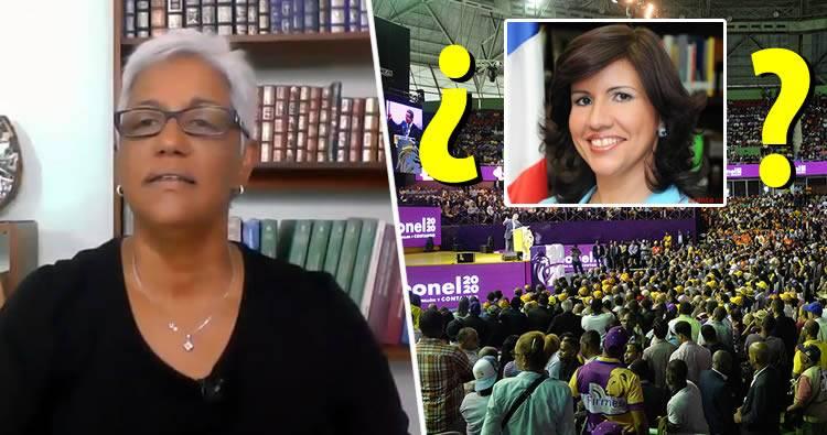 Altagracia Salazar comenta sobre la poca asistencia en el acto de Leonel Fernández
