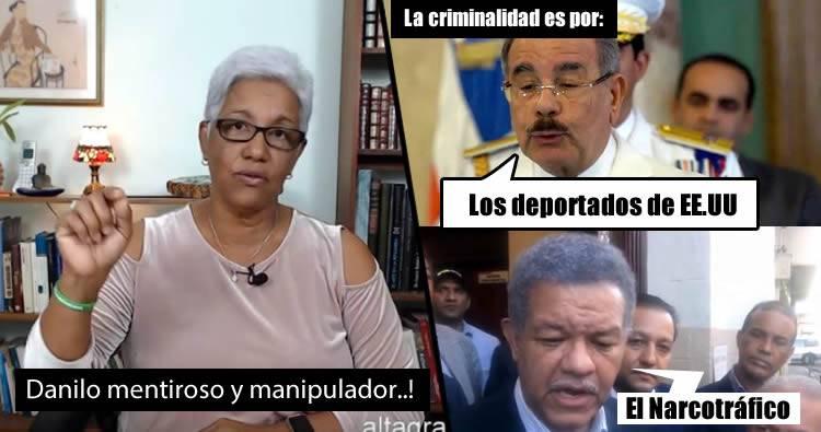Altagracia Salazar le responde con 'Datos' a Danilo y a Leonel