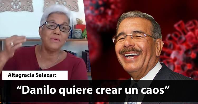 Video – Altagracia Salazar: «Danilo Medina quiere crear un caos»