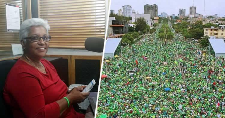 Altagracia Salazar revela gobierno gastó 10 millones para opacar impacto de Marcha Verde en periódicos