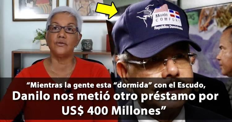 Altagracia Salazar: 'Mientras la gente esta dormida con el Escudo, Gobierno coge préstamo de US$ 400 millones'