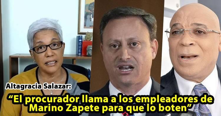 Altagracia Salazar habla sobre la persecusión de Jean Alain Rodríguez a Marino Zapete