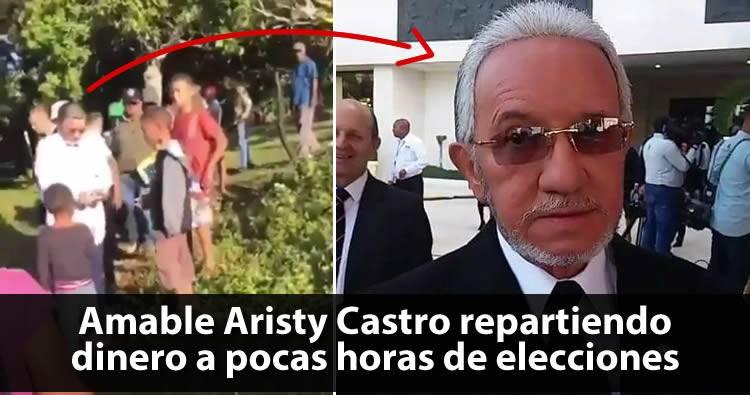 Video: Amable Aristy Castro repartiendo dinero a pocas horas de elecciones