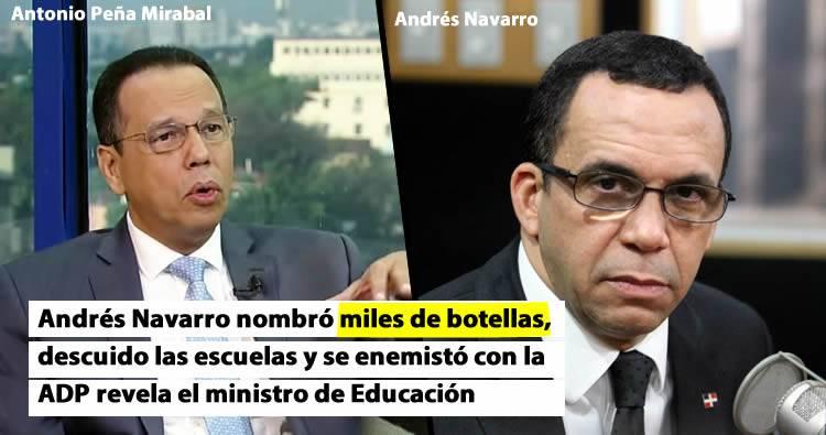 Andrés Navarro se defiende de los cuestionamientos de su gestión en Educación