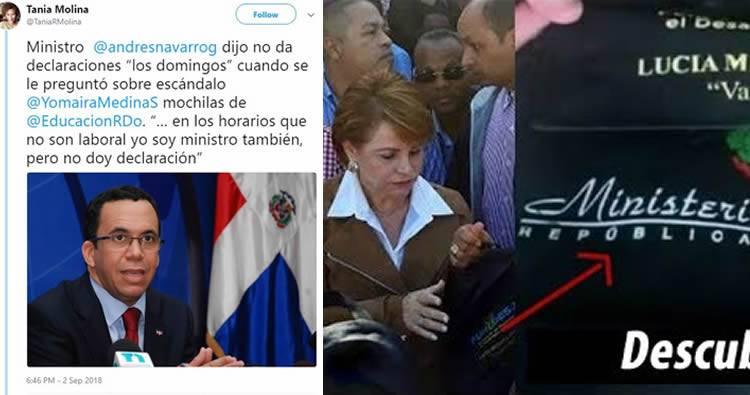 Periódista le pregunta a Andrés Navarro sobre las mochilas de Yomaira y Él responde que NO dá declaraciones los domingos