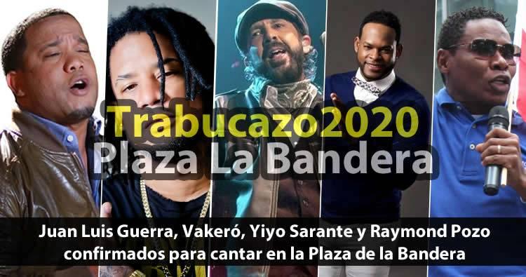 Juan Luis Guerra, Vakeró, Yiyo Sarante y Raymond Pozo confirmados para cantar en la Plaza de la Bandera