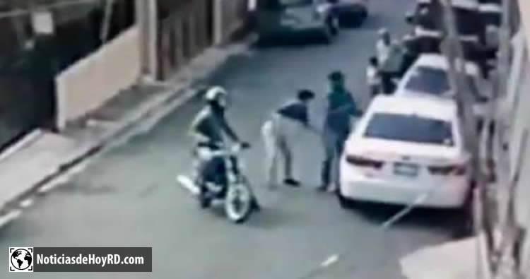 Video: momento en que asaltan a productor de la Z101