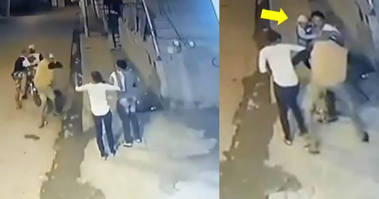 Video: Delincuentes asaltan pareja de esposos con su bebé en brazos en Santiago