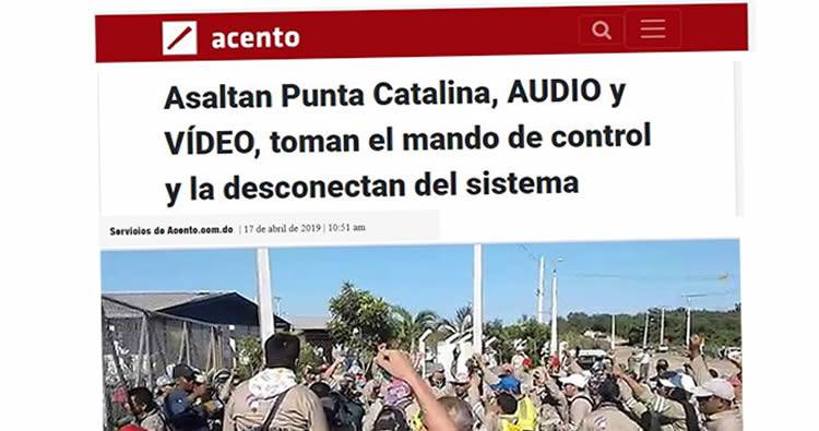 Asaltan Punta Catalina, toman el mando de control y la desconectan del sistema