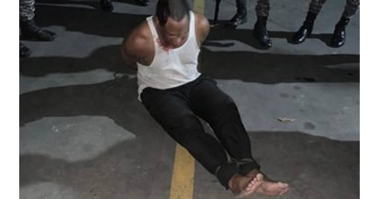 Asaltan Vigilante de seguridad de estación de combustible