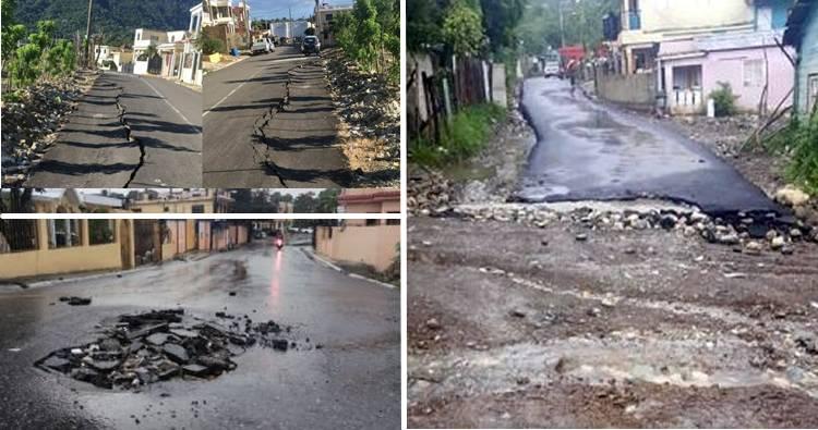 'Tremendo engaño', el asfaltado en campaña en vías de Puerto Plata