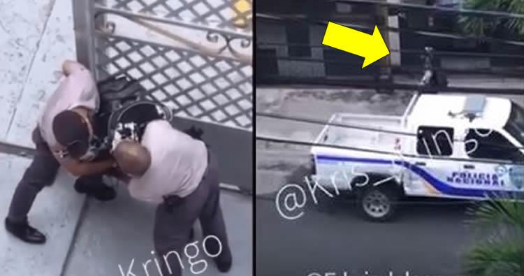 Así fue el lío del haitiano que quitó arma a policía y luego mataron