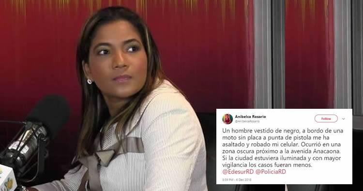 Atracan a la periodista Anibelca Rosario