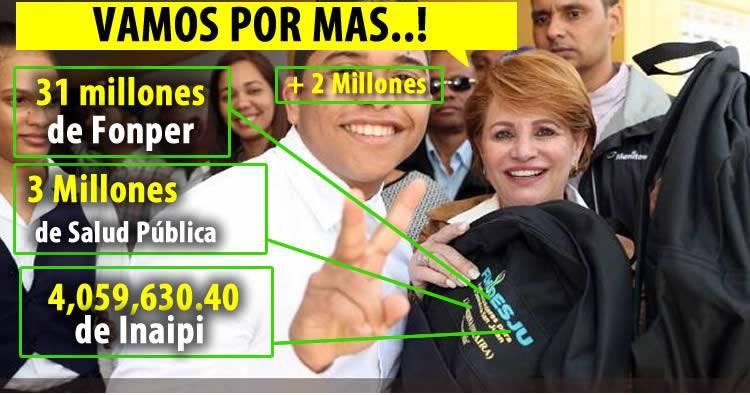 Aumentan 2 millones a fundación de Lucía Medina