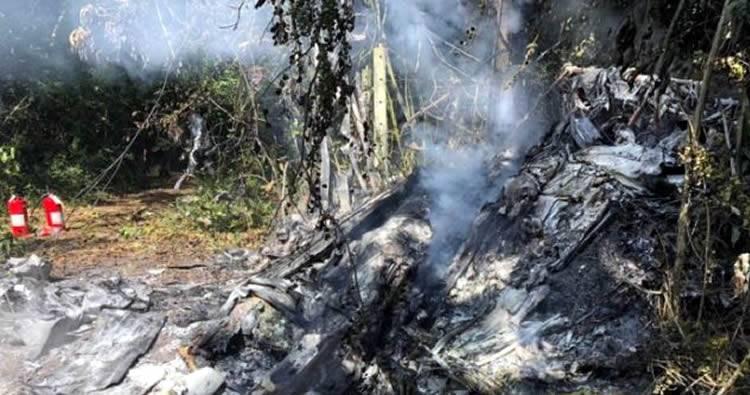 Muere médico y un empresario en accidente aéreo cerca del aeropuerto el Higüero