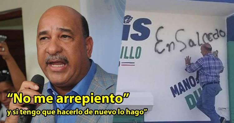 Bauta Rojas Gómez dice que no se arrepiente de haber grafiteado local de Ramfís en Salcedo
