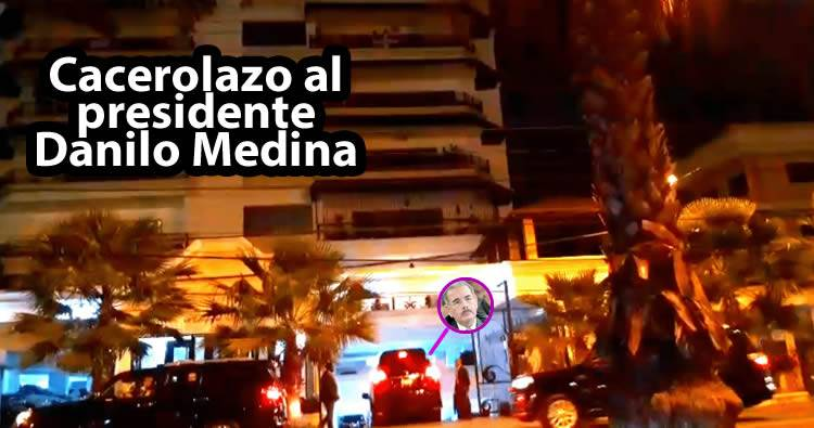 Video: Cacerolazos frente a la residencia del presidente Danilo Medina