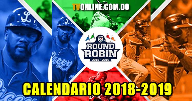 Calendario Round Robin 2018-2019 (Lidom)