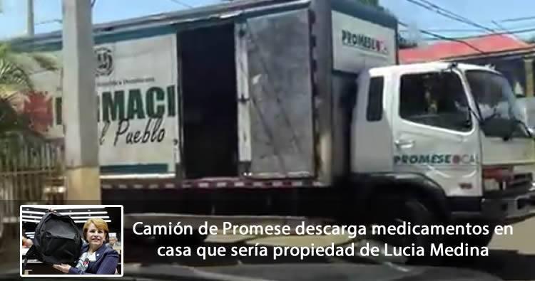 Video: Camión de Promese descarga medicamentos en casa que sería propiedad de Lucia Medina [CDN]