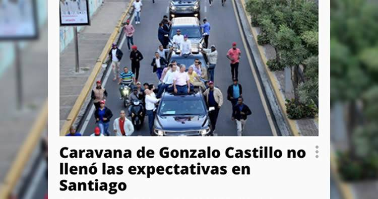 Gonzalo Castillo asegura que ganará en primera vuelta