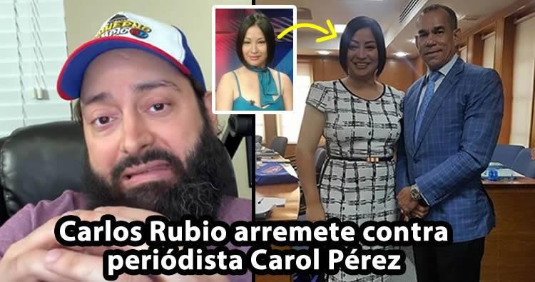 Video: Carlos Rubio arremete contra Carol Pérez por la 'supuesta' entrevista a César el Abusador