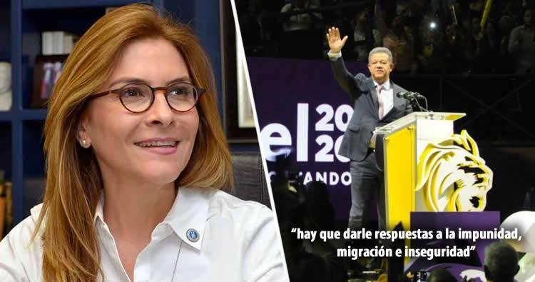 """Carolina Mejía calificó el discurso anti corrupción de Leonel como """"una burla al pueblo"""""""