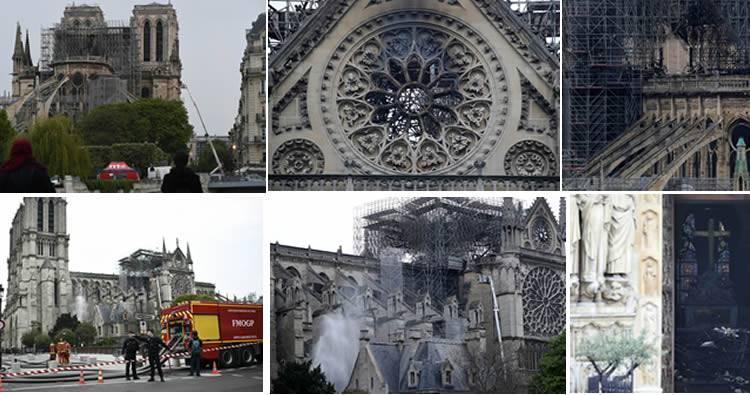Así quedó la catedral de Notre Dame tras más de 10 horas de incendio