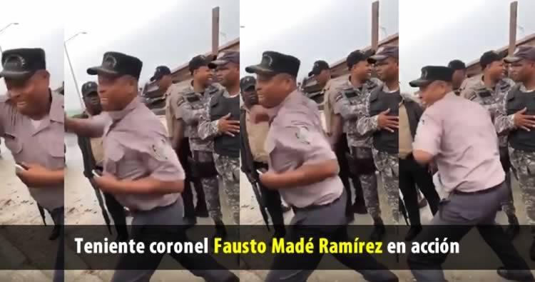 """Suspenden teniente coronel que """"le cayó a trompadas"""" a hombre en los frailes"""