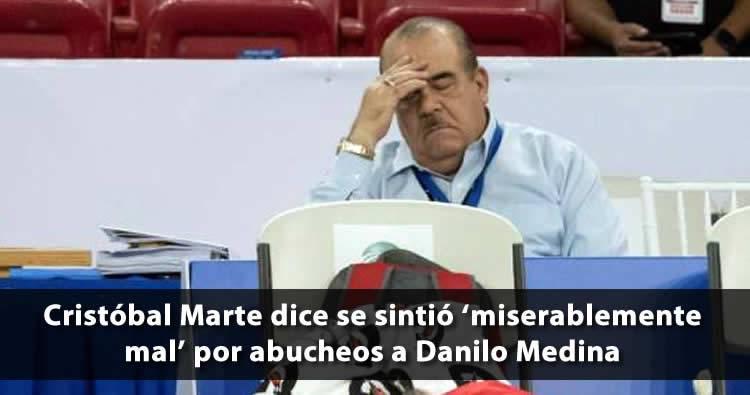Cristóbal Marte dice se sintió 'miserablemente mal' por abucheos a Danilo y a Peralta