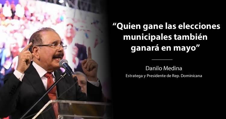Video: Danilo Medina 'Quien gane las elecciones municipales también ganará en mayo'