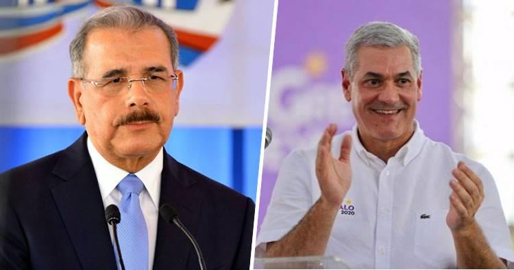 Danilo Medina y Gonzalo Castillo felicitan a Abinader por virtual victoria electoral