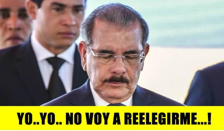 Danilo Medina anuncia que no irá por la reelección