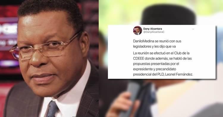 Borran Twit de Dany Alcántara donde dice que Danilo Medina va a reelección