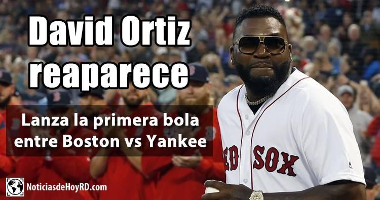 Video: David Ortiz lanza la primera bola entre Boston vs Yankee