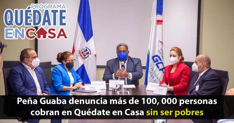 Denuncian Gobierno de Danilo Medina metió más de 101 mil personas en «Quédate en Casa» sin ser pobres